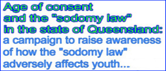 banner and link re Equal Age Of Consent in Queensland
