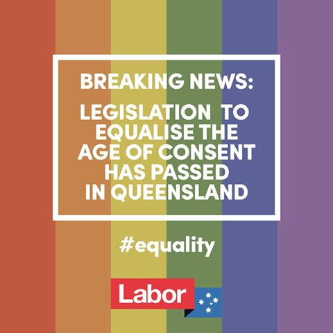 Annastacia Palaszczuk's equal age of consent banner 20160915 ex FB.jpg - 23.9 KB