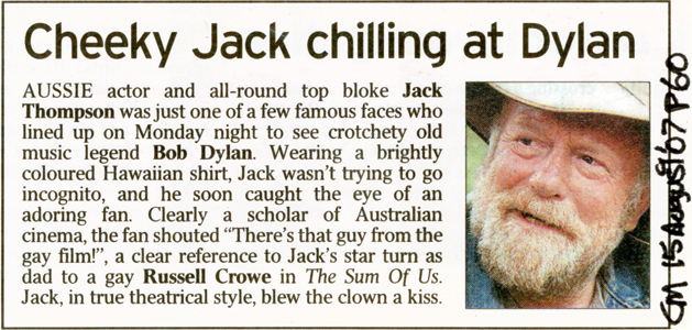 Jack Thompson Courier Mail article 15th Aug 2007 p60