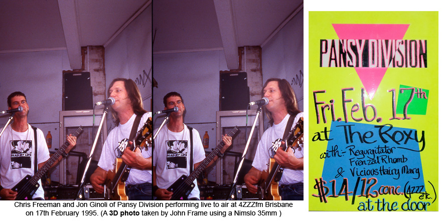 Pansy Division live at 4ZZZfm Brisbane 17th Feb 1995 x John Frame