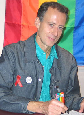 photo of Peter Tatchell with link to his website