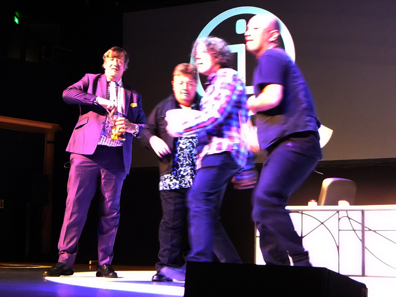 John Frame's photo of Stephen Fry at QI LIve , Brisbane 31st Oct 2011
