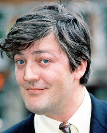 portrait photo of Stephen Fry