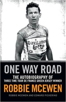 Cover for the Robbie McEwen autobiography - One Way Road with link to Fishpond site for purchase